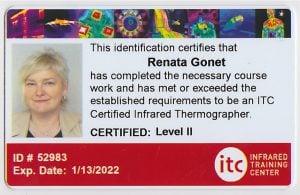certyfikat level 2 thermography
