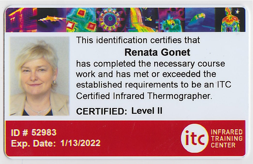 certyfikat level 2 thermography