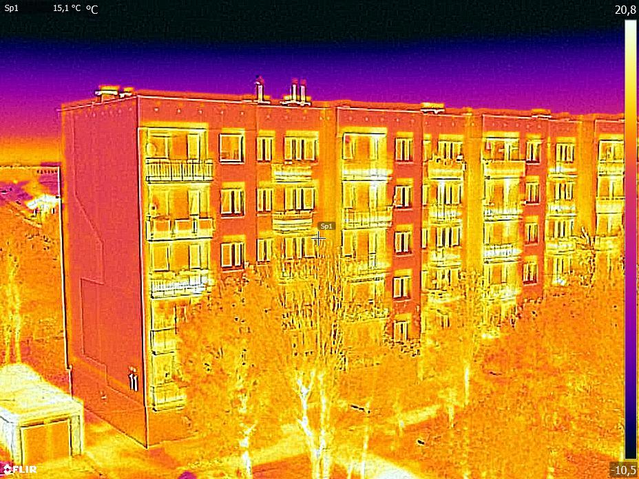 Zdjęcie z kamery termowizyjnej MSX