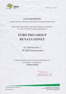 Wpis instytucji szkoleniowej do rejestru instytucji szkoleniowym w zakresie termowizji