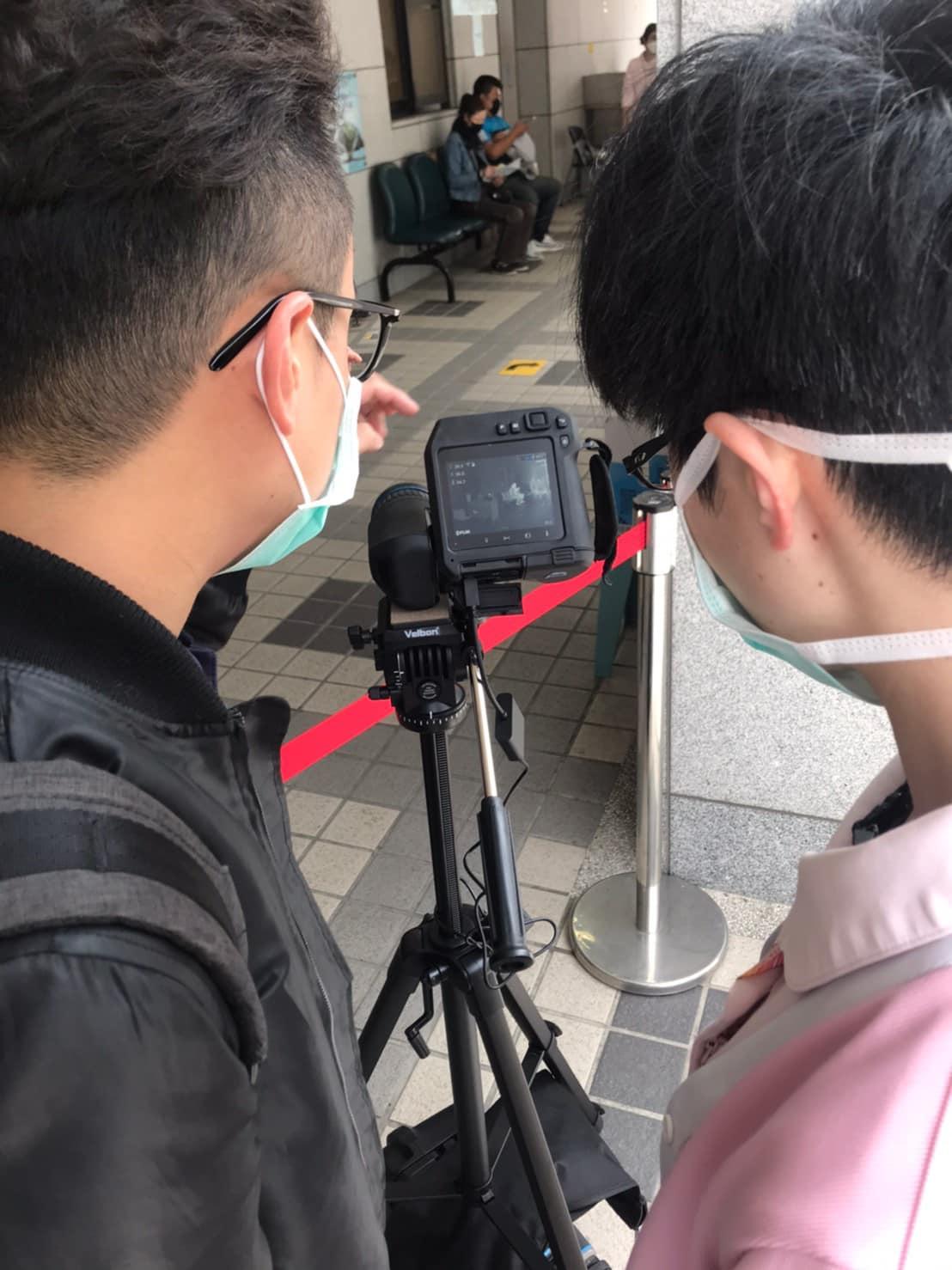 FLIR T540 koronawirus monitorowanie temperatury